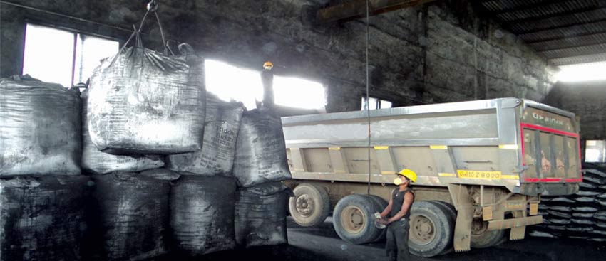 Crane Loading Petroleum Coke